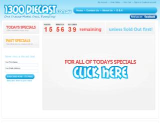 1300diecast.com.au screenshot