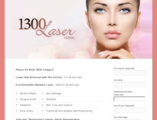1300laserclinic.com.au screenshot