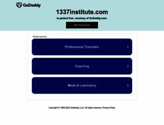 1337institute.com screenshot