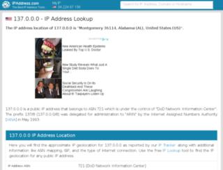 137.ipaddress.com screenshot