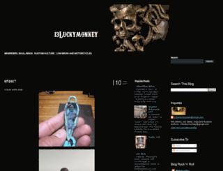 13luckymonkey.blogspot.com screenshot