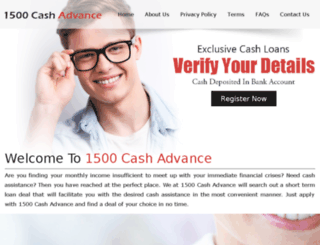 1500cashadvance.net screenshot