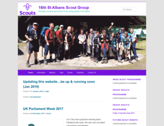 16thstalbans.scoutsites.org.uk screenshot