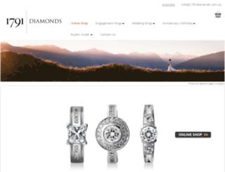 1791diamonds.com.au screenshot