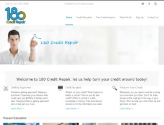 180creditrepair.com screenshot