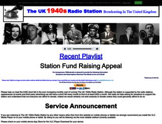 1940sukradio.co.uk screenshot