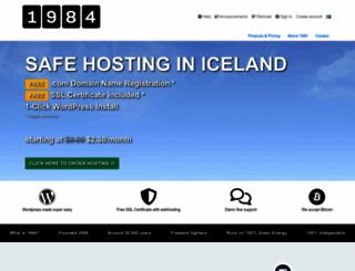 1984hosting.com screenshot