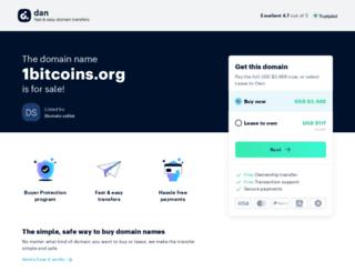 1bitcoins.org screenshot