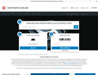 1hondaparts.com screenshot