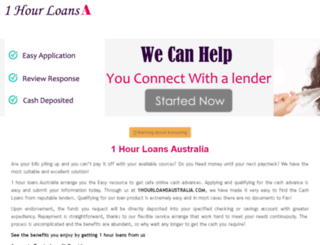 1hourloansaustralia.com screenshot