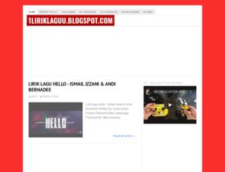 1liriklaguu.blogspot.com screenshot