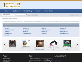 1millionpromotions.com screenshot