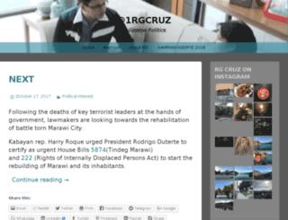 1rgcruz.wordpress.com screenshot