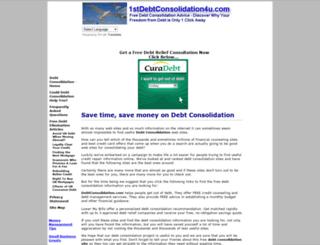 1stdebtconsolidation4u.com screenshot