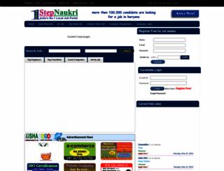 1stepnaukri.com screenshot