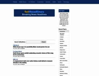 1stheadlines.com screenshot