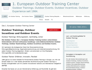1stoutdoortraining.de screenshot