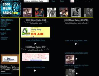 2000musicradio.com screenshot