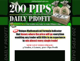 200pipsdailyprofit.net screenshot