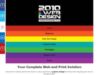 2010webdesign.co.za screenshot