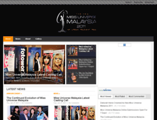 2011.missuniversemalaysia.com.my screenshot