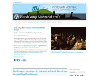 2011.montreal.wordcamp.org screenshot