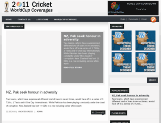 2011cricket.worldcupcoverages.com screenshot