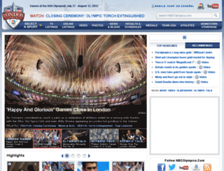 2012.nbcolympics.com screenshot