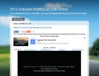 2012kabaddiworldcup.blogspot.in screenshot