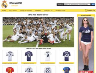 2012realmadridjersey.com screenshot