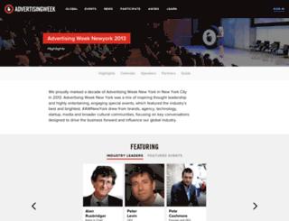 2013.advertisingweek.com screenshot
