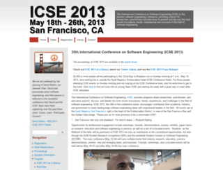 2013.icse-conferences.org screenshot