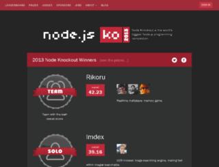 2013.nodeknockout.com screenshot