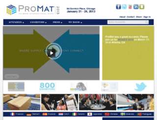 2013.promatshow.com screenshot