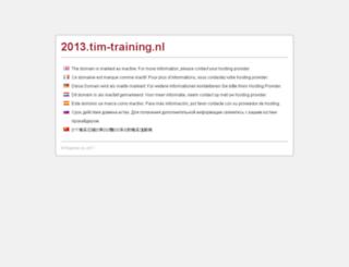 2013.tim-training.nl screenshot