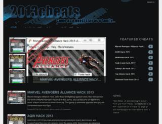 2013cheats.com screenshot