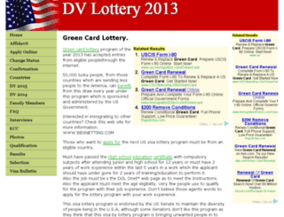 2013dvlottery.com screenshot