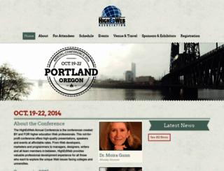 2014.highedweb.org screenshot