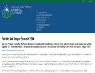 2014.pnwdrupalsummit.org screenshot