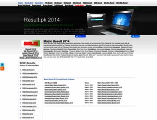 2014.result.pk screenshot