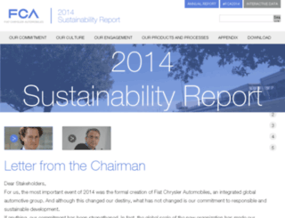 2014sustainabilityreport.fcagroup.com screenshot