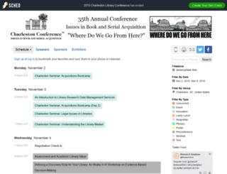 2015charlestonconference.sched.org screenshot