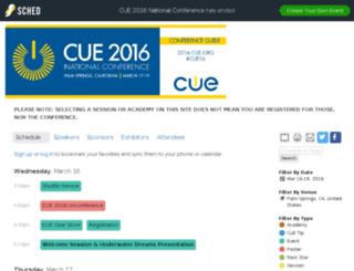 2016.cue.org screenshot