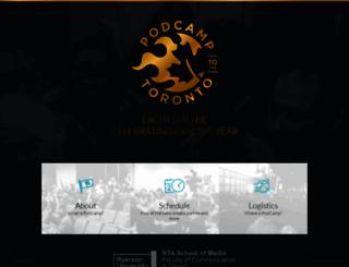 2016.podcamptoronto.com screenshot