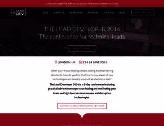 2016.theleaddeveloper.com screenshot