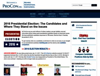 2016election.procon.org screenshot