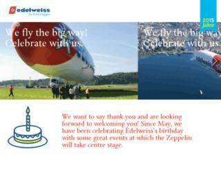 20jahre.flyedelweiss.com screenshot