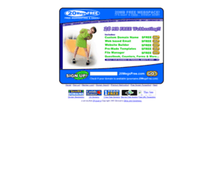 20megsfree.com screenshot
