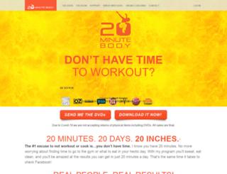 20minutebody.com screenshot