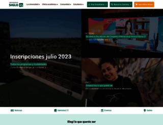 21.edu.ar screenshot